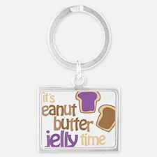 Its Peanut Butter Jelly Time Landscape Keychain