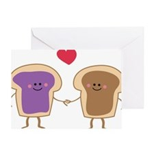 Peanut Butter Loves Jelly Greeting Card
