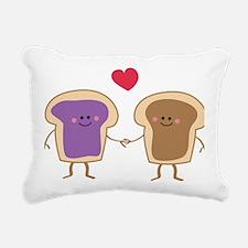 Peanut Butter Loves Jell Rectangular Canvas Pillow