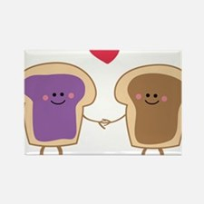 Peanut Butter Loves Jelly Rectangle Magnet