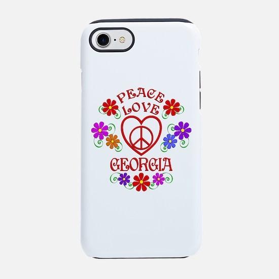Peace Love Georgia iPhone 7 Tough Case