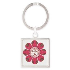 Peace Flower - Affection Square Keychain