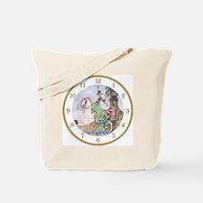 Princess Minot Clock_WHITE_GOLD roman Tote Bag