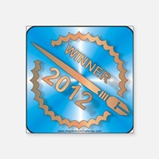 """Chapter Book Challenge 2012 Square Sticker 3"""" x 3"""""""
