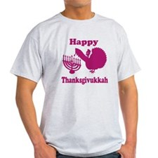 Happy Thanksukkah 3 pink T-Shirt