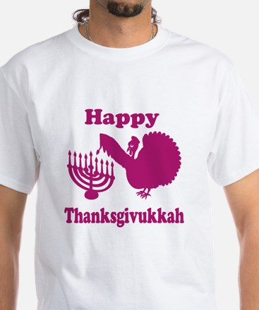 Happy Thanksukkah 3 pink T-Shirt