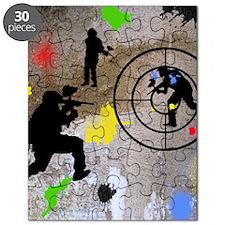 Paintball Mayhem Shower Curtain Puzzle