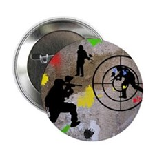 "Paintball Mayhem Shower Curtain 2.25"" Button"