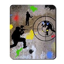 Paintball Mayhem Shower Curtain Mousepad