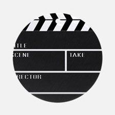 Blank ClapperBoard Round Ornament