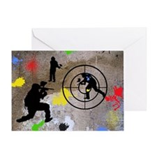Paintball King Duvet Greeting Card