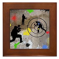Paintball King Duvet Framed Tile