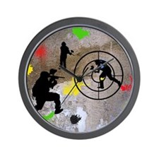 Paintball King Duvet Wall Clock