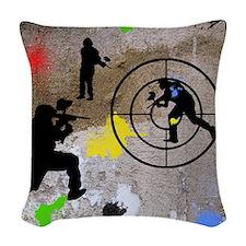 Paintball King Duvet Woven Throw Pillow