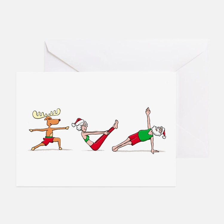 Fitness Christmas Greeting Card