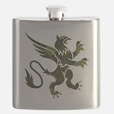 Green Argyle Gryphon Flask