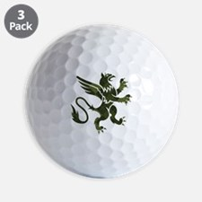 Green Argyle Gryphon Golf Ball