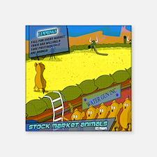 """mousepad_lemmings Square Sticker 3"""" x 3"""""""