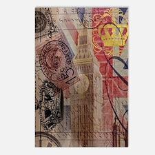 vintage British Flag Lond Postcards (Package of 8)