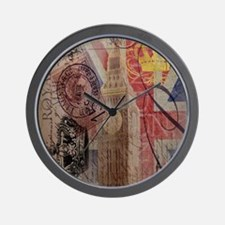 vintage British Flag London UK fashion Wall Clock