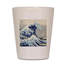 Pillow Hokusai Wave Shot Glass