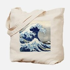 Pillow Hokusai Wave Tote Bag