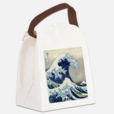 Pillow Hokusai Wave Canvas Lunch Bag