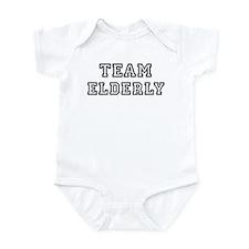 ELDERLY is my lucky charm Infant Bodysuit