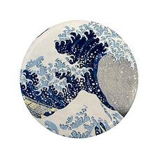 """FF Hokusai Wave 3.5"""" Button"""