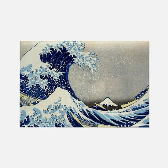 Laptop Hokusai Wave Rectangle Magnet