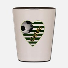 celtic-football-heart-charm Shot Glass