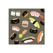 "sushipillow2 Square Sticker 3"" x 3"""