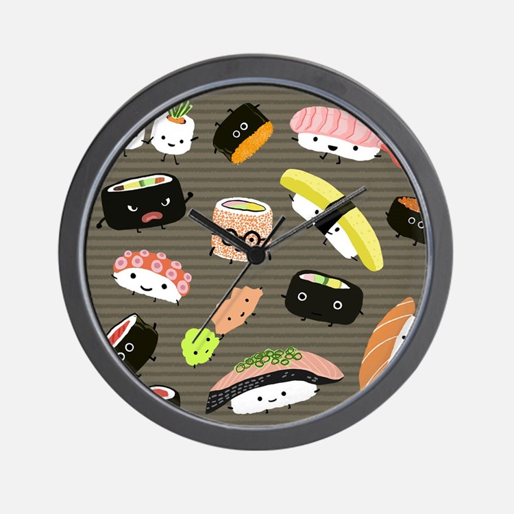 sushipillow2 Wall Clock