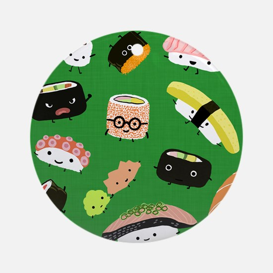 sushipillow3 Round Ornament