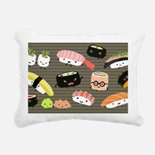 sushitoiletry Rectangular Canvas Pillow