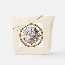 Princess Minot Clock_WHITE_GOLD Star Tote Bag