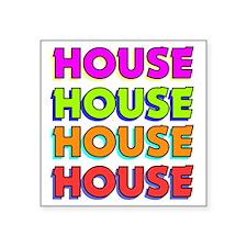 "HouseBombBlack Square Sticker 3"" x 3"""