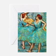 J Degas 2Fan Greeting Card