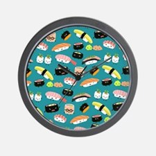 sushishowercurtain Wall Clock