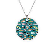 sushishowercurtain Necklace Circle Charm