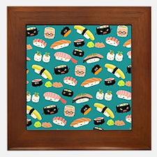 sushishowercurtain Framed Tile