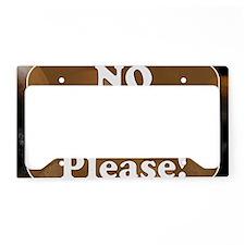 no solicit2 License Plate Holder