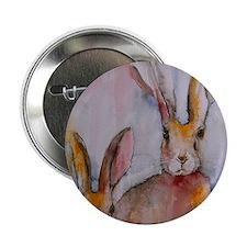 """2 Hares 2.25"""" Button"""