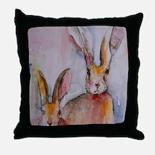 2 Hares Throw Pillow