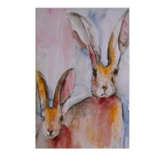2 Hares Postcards (Package of 8)