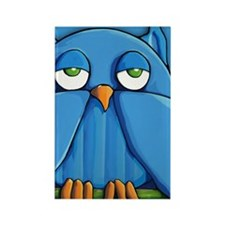 iTouch4 Aqua Owl aqua Rectangle Magnet