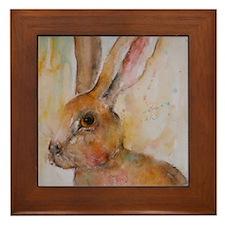 Solo Hare Framed Tile