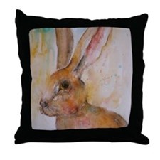 Solo Hare Throw Pillow