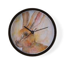 Solo Hare Wall Clock