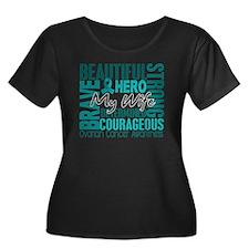 D Wife Women's Plus Size Dark Scoop Neck T-Shirt